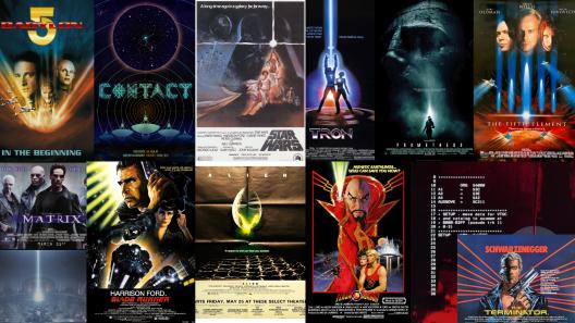 Collage Bab 5, Contact, Tron, Prom, 5th E, Matrx, Termi, Flash, Blade Runner