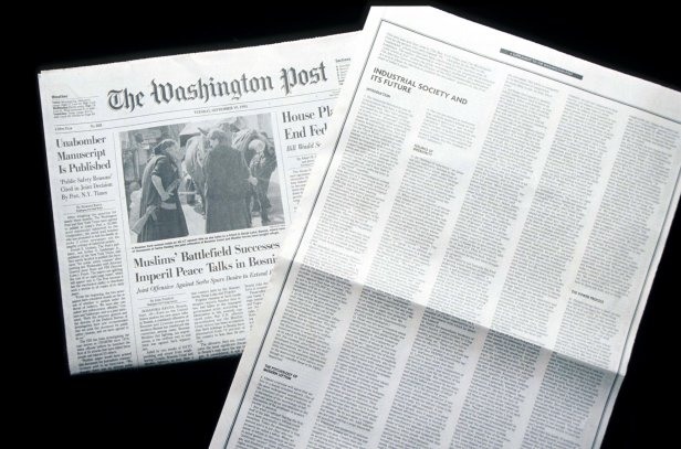 Unabomber Text Published In The Washington Post