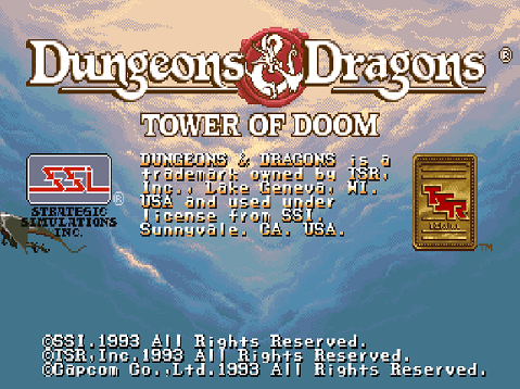 tower of doom opening screen